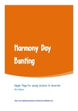 Harmony Day Bunting (black and white)