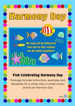Harmony Day Fish- We all swim together! - Cultural Diversity, Tolerance