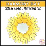 Harmony Day Week Hands Free Download Bulletin Board Display