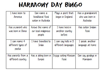 Harmony Day Pack