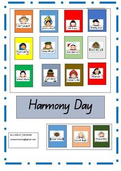 Harmony Day -Writing Sentences