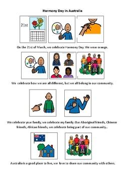 Harmony Day in Australia ~ Social Story FREE~