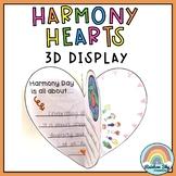 Harmony Hearts 3D Display -  {Harmony Day and Harmony Week}
