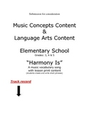 Harmony Is / vocabulary / music words / song mp3