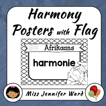 Harmony Posters with Flags (Blackline)