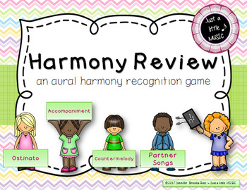 Harmony Review -- aural harmony recognition practice game for music