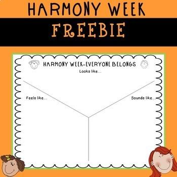 Harmony Week/Day Freebie