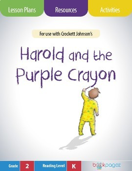 Harold and the Purple Crayon Lesson Plans & Activities Package, 2nd Grade (CCSS)