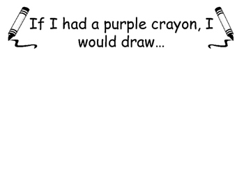 Harold and the Purple Crayon Activity (Purple Activity)