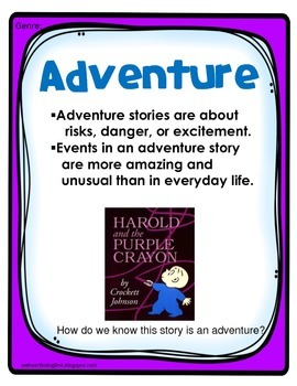 Harold and the Purple Crayon:  Back to School Book Extension for K-2
