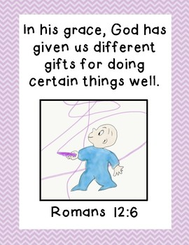 Harold and the Purple Crayon Bible Verse Printable (Romans 12:6)