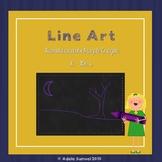 Harold and the Purple Crayon Line Art No Prep