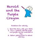Harold and the Purple Crayon Literacy Bag