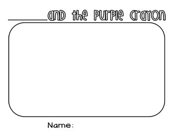 Harold and the Purple Crayon Writing Activities