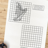 Harp Grid Drawing Activity