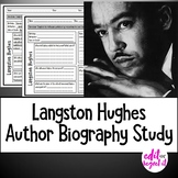 Langston Hughes Author Study Activity, Biography Worksheet WITH ANSWER KEY!