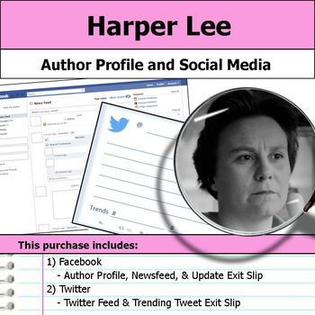 Harper Lee - Author Study - Profile and Social Media