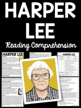 Harper Lee Biography Reading Comprehension Worksheet, To K
