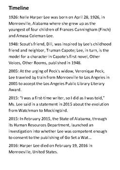 Harper Lee Handout