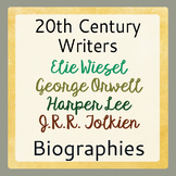 Harper Lee, Orwell, Tolkien, Wiesel Biography BUNDLE   DIS
