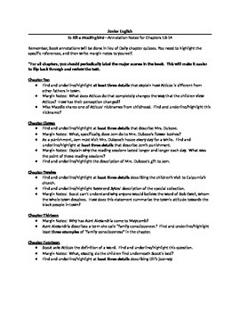 Harper Lee's To Kill a Mockingbird--Complete Annotations Packet