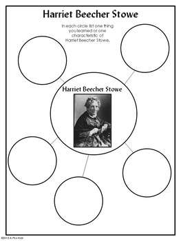 Harriet Beecher Stowe:  A biography with differentiated comprehension activities