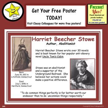 Harriet Beecher Stowe Poster