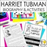 Harriet Tubman Biography & Reading Response Activities | D