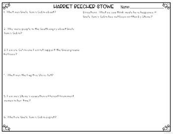 Harriet Beecher Stowe Differentiated Reading Passages