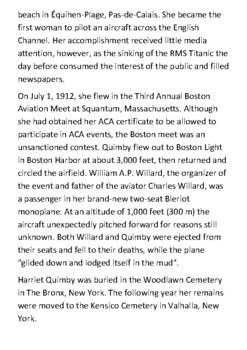 Harriet Quimby Handout