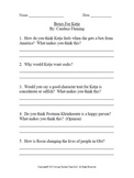 Critical Thinking Questions to-Harriet The Spy By: Louise