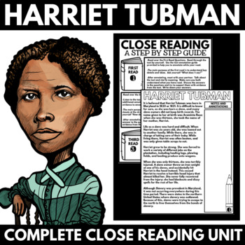 Harriet Tubman - Black History Month Unit Information and Research Project