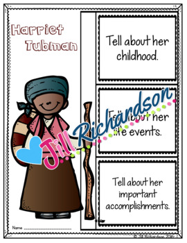 Harriet Tubman Writing - Great Black History Month Activity