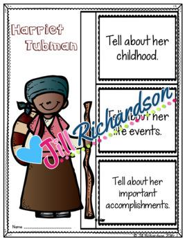 Harriet Tubman Activities - Great Black History Month Activity