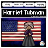 Harriet Tubman Biography Unit with Articles, Activities, Flip Book & Quiz