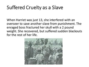 Harriet Tubman PowerPoint for Black History or Women's History Month