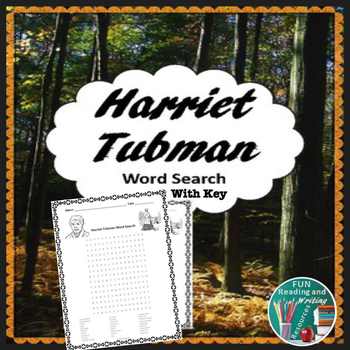 Harriet Tubman Word Search Puzzle