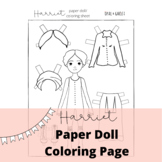 Harriet Tubman Activities: Paper Doll Color and Cut
