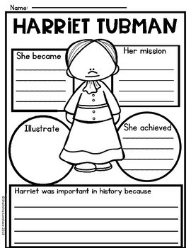 Harriet Tubman Activities and Close Reading