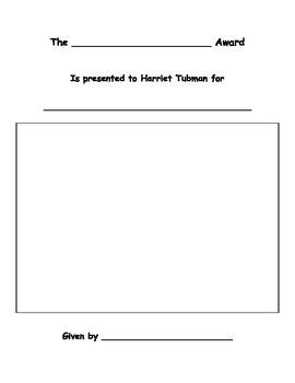 Harriet Tubman Award - Social Studies Georgia 1st Grade
