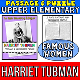 Harriet Tubman Biography: Passage and Comprehension Crossw