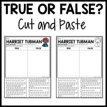 Harriet Tubman Biography Reading Comprehension Worksheet   TpT