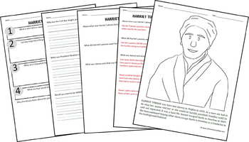 Harriet Tubman Biography Report (K-8th)