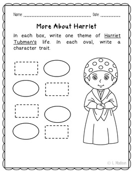 Harriet Tubman Biography Research, Civil Rights, Black History Month