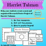 Harriet Tubman Biography Research Poster Kits