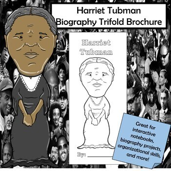 Harriet Tubman Biography Trifold Brochure