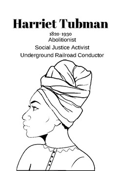Harriet Tubman Biography and worksheets
