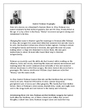 Harriet Tubman Biography with Comprehension Questions