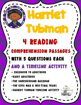Harriet Tubman Black History Month Activities-Reading Comprehension