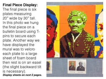 Harriet tubman black history collaborative lego mural by for Black history mural